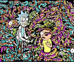 'Trippy Snake Stuff - Rick and Morty' Wall Tapestry by cvx-official Cartoon Stickers, Kids Stickers, Tapestry Design, Wall Tapestry, Rick And Morty Tapestry, Cool Tapestries, Rick And Morty Poster, Get Schwifty, Wall Decals For Bedroom