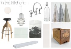In the kitchen mood board