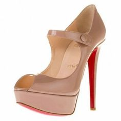 Christian Louboutin, can you guys tell I love nude. Christian Louboutin Black Pumps, Christian Louboutin Outlet, Louboutin Pumps, I Love My Shoes, Red Bottom Shoes, Evening Sandals, Round Toe Pumps, Boots For Sale, Red Bottoms