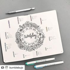 "6,135 Likes, 34 Comments - Ryder Carroll (@bulletjournal) on Instagram: ""#Repost @bumblebujo (@get_repost) ・・・ Finally finished my birthday tracker . It's my most…"""