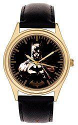 Dark Gothic Art BATMAN Comic Art Collectible Wrist Watch, 24k Gold-Washed Case   Gothic Dress Code