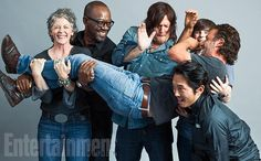The Walking Dead: Melissa McBride, Lennie James, Norman Reedus, Andrew Lincoln, Chandler Riggs and Steven Yeun