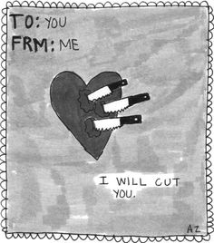 i will cut you.