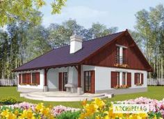 Eris II (wersja C) - projekt domu - Archipelag Gabriel, Gazebo, Outdoor Structures, House Design, Cabin, House Styles, Outdoor Decor, Home Decor, African Dress