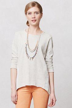 Lace Intaglio Sweatshirt #anthropologie