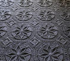 Gyönyörű horgolt afgán Pattern
