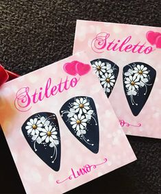 One Stroke Painting, Nail Stickers, Nail Designs, Pasta, Nails, Flowers, White Nail Beds, Nails Inspiration, Nail Jewels