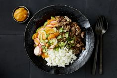 Photo for the dish: Pork Banh Mi Bowl with Coriander Rice and Chilli Aioli