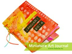 Miniature Art Journal filled with illustrations, by iHanna, January 2014. See the pages on the blog www.ihanna.nu