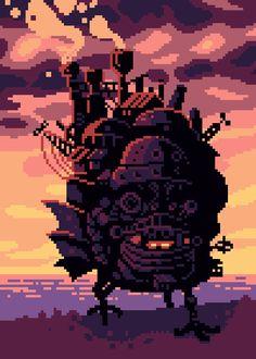 Howl's Moving Castle (Studio Ghibli) Pixel Artist:...