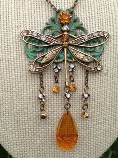 For the July Challenge: from my Garden Collection: Art Nouveau Dragonfly - Lori Anngelo Designs