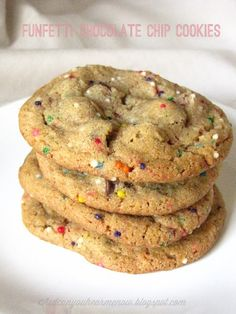 Gluten Free Casein Free Soy Free Funfetti Chocolate Chip Cookies