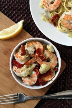 Shrimp Scampi with Artichokes and Sundried Tomatoes! To order any of ...