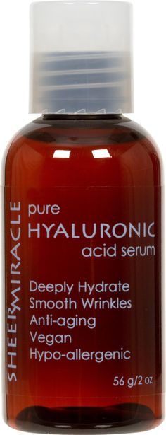 Pure Hyaluronic Acid Serum - 2 oz - Deeply Hydrate - Paraben Free - Alcohol Free - Vegan