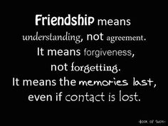 Friendship means..