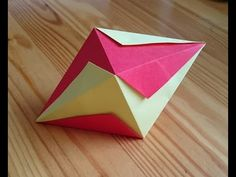 Origami The Lightning Bolt Octahedron - YouTube
