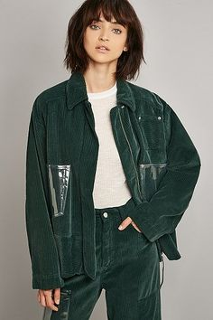 MM6 Garment Dyed Green Jacket