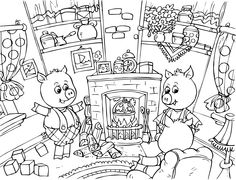 free printable coloring image The Three Little Pigs 11 | Three ...