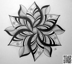 3. #Fishy Flower - 41 #Inspiring and Mostly #Black and White #Tattoos to Inspire Your Next Ink #Session ... → #Inspiration #Tattoo