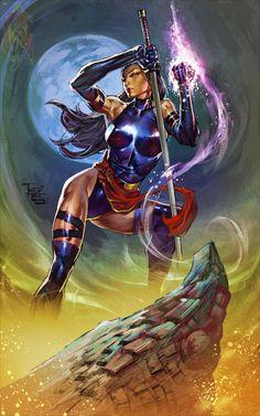 Psylocke by Philip Tan