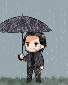 Like a Rose trampled on the ground — John Wick mourning … コチカ‏ Chibi, Caricature, Cool Pictures, Baba Yaga, Motivational Art, Artwork, Anime, Cartoon, Fan Art