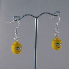 Cool Shades earrings made from Lego heads by MooseintheMint