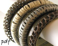 Openwork bracelets tutorial, polymer clay, pdf file, instant download - pinned by pin4etsy.com