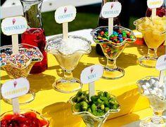 I love the idea of having a frozen yogurt bar for my reception!