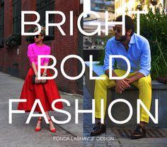 Guest Post on Follow the Colours: Bright Bold Fashion  | Fonda LaShay // Design
