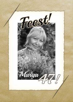 Een mooie vrolijke kaart met vintage uitstraling. Perfect voor een tuinfeest of ander sfeervol gebeuren. Oud met een trendy randje!