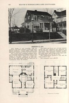 Vintage House Plans, Gambrel, City Living, Small House Plans, Mid Century House, House Layouts, Kit Homes, Residential Architecture, Craftsman Style