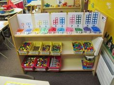 I like the organisation of the numicon pieces here Maths Eyfs, Eyfs Classroom, Classroom Displays, Classroom Ideas, Classroom Layout, Early Years Maths, Early Years Classroom, Early Math, Early Learning
