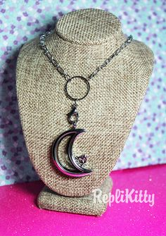 Moon and Stars Floating Charm Locket - Magnetic Locket Opens to Hold Your Charms! by RepliKitty   #stars #moon #stasher #stash #jewelry #necklace #locket #silver #witchcraft #earth #element #space #energy #faith #solar #celestial #custom #glass #window #charms #floatingcharm #memory #memorial #living