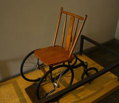Replica of FDR's wheelchair
