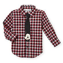 Your dapper dude will love having his favorite mouse tag along on every outing! This comfy cotton shirt has a tasteful red plaid design that be dressed up or down with a removable Mickey tie! Cute Princess, Princess Outfits, Disney Baby Clothes, Baby Disney, Plaid Design, Red Plaid, Little Babies, Baby Boy Outfits, Dapper