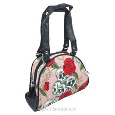 Skull Pink Bowling Bag Small  Skulls Pink Bowling Bag      This sweet little bag has a huge load of vintage inspired style. The print shows an awesome combination of skulls and red roses with s..  Price: €12.49  http://www.clarabellatattoowear.com/accessories/bags/bowling-bag/small/skull-pink-bowling-bag-small/   Do you adore promotions? Don't miss out! Claim YOUR sweet 15% discount code: http://eepurl.com/boSy7H