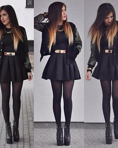 Cute Skirt Outfits, Edgy Outfits, Mode Outfits, Pretty Outfits, Fall Outfits, Fashion Outfits, Queen Outfit, Pantyhose Outfits, Dress Indian Style