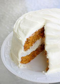 Carrotcake with cream cheese frosting (Dutch recipe)
