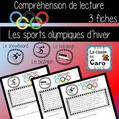 Printing Pattern Shape French Videos For Kids Teaching Bobsleigh, Core French, French Class, Teaching French, Theme Sport, Teaching Posts, Elementary Teaching, Video Sh, Winter Olympics
