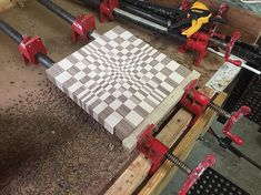 3D board in the works (9x9) - - - - #cuttingboard #choppingboard #woodcraft #woodwork #woodworking #dowoodworking #woodworkforall #butcherblock #carpentry #kitchentools #rustic #cheeseboard #woodart #woodworkingskills #woodwork_feature #custom #handmade #handcrafted #custommade #breadboard #woodworkcraft #woodworkingtools #crafty #craftsman #woodshop #woodart  Yummery - best recipes. Follow Us! #kitchentools #kitchen