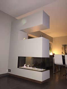 Vented Gas Fireplace, Electric Fireplaces, Fire Places, Modern Houses, Coin, Houzz, Living Area, Wall Lights, Designers