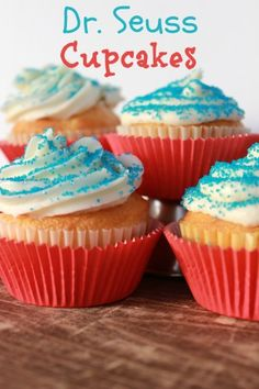 simple dr seuss cupcakes Simple Dr Seuss Cupcake Idea
