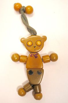 Vintage Bakelite Crib Toy Bear