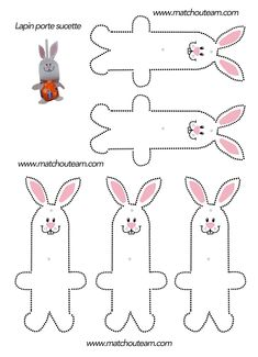 Decoration: gourmet rabbit - Diy and Crafts Mix Felt Crafts Patterns, Fabric Crafts, Bunny Crafts, Easter Crafts, Funny Easter Bunny, Candy Bouquet Diy, Homemade Valentine Cards, Easy Christmas Ornaments, Animal Templates