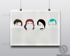 Red Hot Chili Peppers Minimalist Poster by Posteritty Minimal Art Design