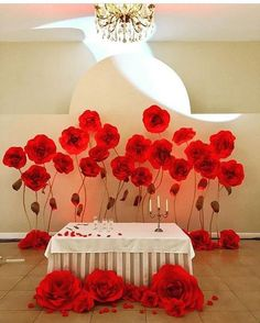 INSPO✂✂ Paper flowers by @topartspb ... Continue our inspiration for Valentines Day What are you after? Heart garlands? Mini roses? Medium size flowers? Mini backdrops for bedroom styling? Giant free standing flowers? We got you covered! DM with your request #valentinesday #paperrose #receptionstyling #valentinesdayideas