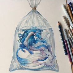 Fantasy animals colored pencils drawings in 2019 fantasy art