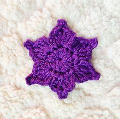 Picot Crochet Flower Pattern - free! Crochet Flower Tutorial, Crochet Flower Patterns, Crochet Designs, Knitting Patterns Free, Crochet Flowers, Picot Crochet, Crochet Motif, Crochet Hooks, All Free Crochet