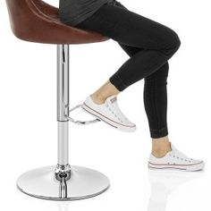 Hype Bar Stool Antique Brown - Atlantic Shopping Brown Leather Bar Stools, Rubber Flooring, Metal Working, Contemporary Design, Elegant, Stylish, Antiques, Shopping, Classy