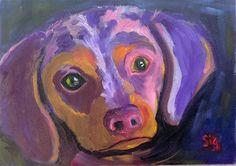 "Daily Paintworks - ""Pick Me"" - Original Fine Art for Sale - © Sigrid Victor"